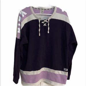 Victoria's Secret PINK pullover purple and white